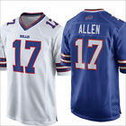 2019 New Buffalo Bills 17#Josh Allen Men's Jersey Blue/White Size M-3XL
