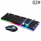 Keyboard Mouse Set USB Gaming LED Backlight Mechanical Colorful Keyboard Fashion
