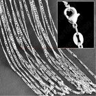 """2mm Women Men 16-30"""" Stainless Steel Figaro Link Curb Chain Necklace Jewelry"""