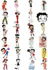 24 Mixed Betty Boop Large Sticky White Paper Stickers Labels NEW £2.75 GBP on eBay