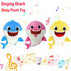 32CM Baby Kid Sing Song Shark toy Stuffed Plush Doll Soft Shark Toy TWO VERSIONS