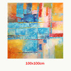 Abstract Hand Painted Art Oil Painting Wall Decor Canvas - Framed Color Combo