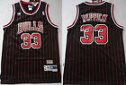New Men's Chicago Bulls #33 Scottie Pippen Basketball Mesh jersey Black-Red on eBay