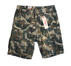 NEW MENS LEVIS RELAXED FIT ACE CARGO SHORTS ZIPPER FLY CAMO BLACK BLUE GRAY RED