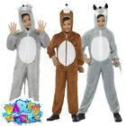 Kids Animal Jumpsuit Costume Boys Girls Childs Fancy Dress Outfit Book Week Day