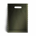 Black and Gold Stripe Plastic Carrier Bags 15