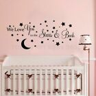 Moon And Stars Vinyl Wall Sticker Kids Boys Baby Bedroom Wall Decal Removable