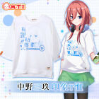 Anime Go Toubun no Hanayome Miku Nakano Cute Seven Sleeves T-shirt Casual TEE