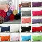2 Pieces Cotton Pillowcase Standard Size Solid Color 48*74cm Home Gift  image