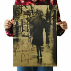 Vintage Retro Scenery Poster Kraft Paper Antique Poster Bar Pub Cafe Wall Decor