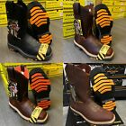 MEN'S STEEL TOE WORK BOOTS GENUINE LEATHER BROWN WESTERN COWBOY PULL ON BOOTS фото