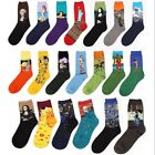 Retro Painting Art Socks Men Cotton Happy Funny Novelty Vintage Fancy Crew Hot
