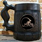 Cleveland Browns Wooden Beer Mug, American Football, Custom Beer Gift for Men $26.99 USD on eBay