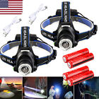 300000Lumen T6 LED Zoomable Headlamp USB Rechargeable 18650 Headlight Head Torch
