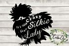 """""""Crazy Silkie chicken lady"""" vinyl decal/sticker for crafting/DIY projects"""
