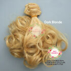 Synthetic Curly Doll hair weft BJD Blythe Monster High My Little Pony 15cm 1/6