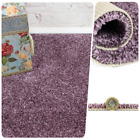 PREMIUM Thick Lilac Purple Action Back 4m Wide SAXONY Carpet Remnant/Roll End