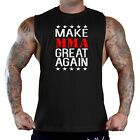 Men's Make MMA Great Again TV2 Black T-Shirt Tank Top Workout Gym Fitness Fight for sale  Shipping to South Africa