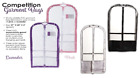 Внешний вид - NEW Dance Garment Bag Clear colored sides COMPETITION outer pockets EXPANDABLE