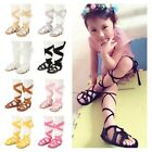 USA Cute Colorful Baby Girl Leather Gladiator Sandals Fringe Shoes Toddler Hot!