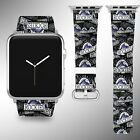 Colorado Rockies Apple Watch Band 38 40 42 44 mm Fabric Leather Strap 01 on Ebay