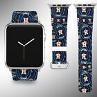 Houston Astros Apple Watch Band 38 40 42 44 mm Fabric Leather Strap 01 on Ebay