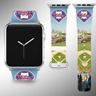 Philadelphia Phillies Apple Watch Band 38 40 42 44 mm Fabric Leather Strap 03 on Ebay