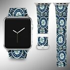 Seattle Mariners Apple Watch Band 38 40 42 44 mm Fabric Leather Strap 01 on Ebay