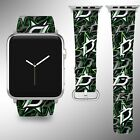 Dallas Stars Apple Watch Band 38 40 42 44 mm Fabric Leather Strap 01 $29.97 USD on eBay