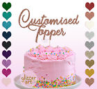 Personalised Customised Cake Topper Glitter Gold Birthday Any Word Name 2 Sizes