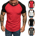 US Men Workout T-Shirt Basic Tee Casual Bodybuilding Gym Muscle Fitness Tops