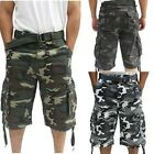 BIG SIZES !!!!! Camouflage Army Fatigue Cargo Shorts For Men