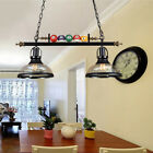Industrial Island Pendant Glass Dome Shade Billiard Pool Table Ball Light Lamp $139.99 USD on eBay