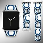 Indianapolis Colts Apple Watch Band 38 40 42 44 mm Series 1 - 5 Wrist Strap 04 $32.99 USD on eBay