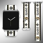 New Orleans Saints Apple Watch Band 38 40 42 44 mm Series 1 - 5 Wrist Strap 05 $32.99 USD on eBay
