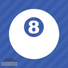 Magic Eight 8 Ball Vinyl Decal Sticker Pool Billiards $9.99 USD on eBay