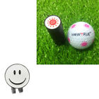 Magnetic Smile Face Ball Marker Hat Clip Visor Decor with Ball Stamp Eye Sun