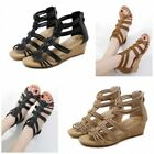 Gladiator Roman Sandals Hollow Out Womens High Wedges Heel Casual Summer Shoe