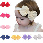 12pcs Cute Adorable Children Baby Bow headband Soft Elastic Hair Accessorie Band