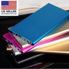 50000mAh Ultra Thin Power Bank External Pack 2 USB Charger For Mobile Phone US