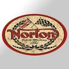 Vintage Reproduction Norton British Motorcycle Vinyl Decal Sticker Cafe Racer