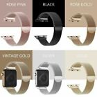 For Apple Watch Series 6,5,4,3,2,1 Milanese Magnetic Stainless Steel Iwatch Band