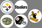 Pittsburgh Steelers Set of 5 Buttons or Magnets NEW 1.25 inch $2.5 USD on eBay