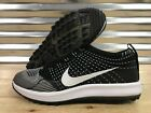 Nike Flyknit Racer G Golf Shoes Black White Oreo SZ ( 909756-001 )