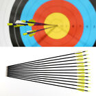 "12x 28"" 30"" 32"" Hunting Archery Fiberglass Arrows Carbon Grade For Compound Bow"