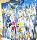 Внешний вид - METALLIC FRINGE CURTAIN BOX BABY SHARK Party Supplies BALLOON BANNER DECORATION