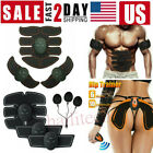 Rechargeable ABS Simulator EMS Training Smart Body Abdominal Muscle Exerciser US image