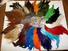 Rooster Saddles Patches  Natural and dyed hackles feathers