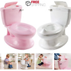 Toilet For Toddler Kids With Flushing Sounds Wipe Dispenser And Easy Clean Bowl image