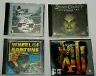 """Computer Cd-rom Video Games F1, Star Craft, Thirteen, Or Wheel Of Fortune """"htm"""""""